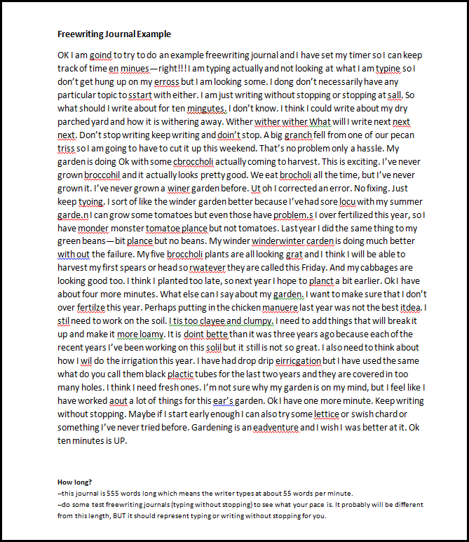 freewriting writing and elbow About responding to student writing peter elbow the main point of this memo is to give some simple, concrete, practical guidelines for commenting on.